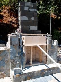 cinder block fireplace building an outdoor fireplace wood or cinderblock