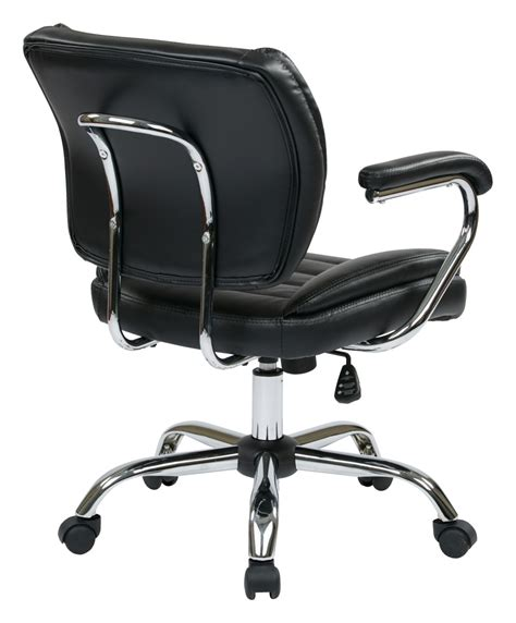 Leather Task Chair by Task Chair Faux Leather Black Ergoback