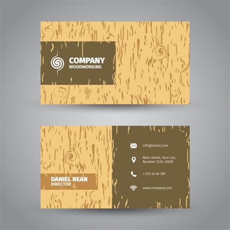 textured business card template wood textured business card vector free