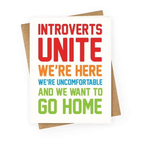human introverts unite we re here we re uncomfortable