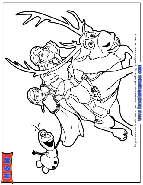 frozen coloring pages olaf and sven kristoff and olaf sven coloring page h m