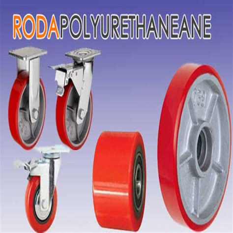 Roda Trolly Saja Ukuran 5 roda polyurethane kawan multi jaya