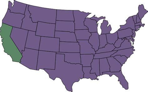 california map clip u s map highlighting california clip vector clip