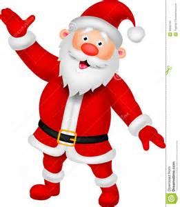 happy santa cartoon waving hand stock images image 33242744