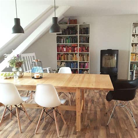 Ikea Regal Tisch by Wohnzimmer Mit Ikea Norden Esstisch Eames Chairs