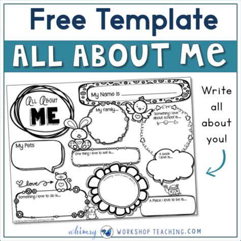 about me template for about me writing template whimsy workshop teaching