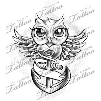 tattoo owl anchor 20 best images about banner tattoo designs on pinterest