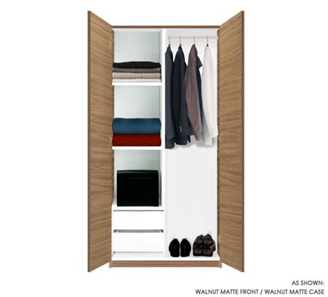 Two Door Closet 2 Door Cupboard Inside Designs Wardrobe Closet W 2 Doors 2 Shelves And 2 Interior Drawers