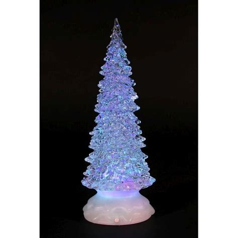 buy christmas light up led tree with water inside 32cm