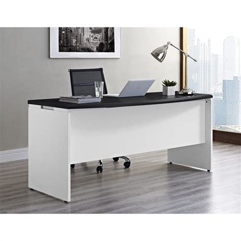 Office Desk White Executive Office Desk In White And Gray 9319296