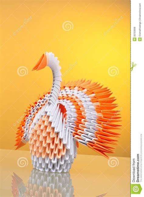 real origami origami pavo real de papel anaranjado buscar con
