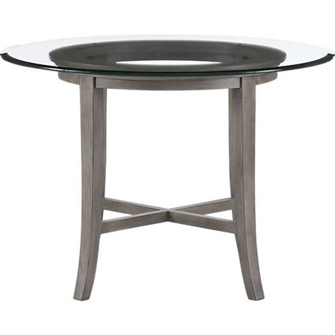 halo grey dining table with 42 quot glass top halo