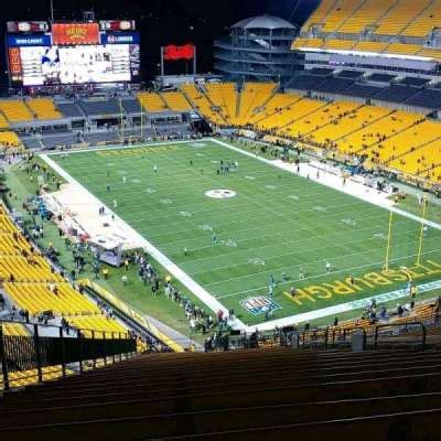 heinz field section  home  pittsburgh steelers