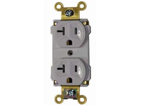 20a 120v receptacle industrial grade with plugtail grey