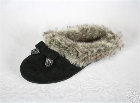 jessica simpson house slippers jessica simpson prettier black microsuede house slippers womens shoes new ebay
