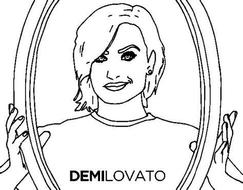 demi lovato popstar coloring page coloringcrew com