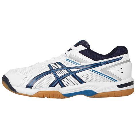 Ardiles Federer White Navy Badminton Shoes asics rivre ex 6 white navy blue 2015 mens badminton shoes sneakers