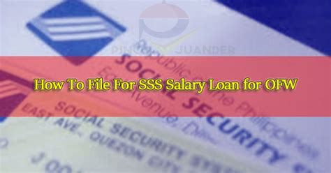 sss housing loan for ofw how to file for sss salary loan for ofw ph juander