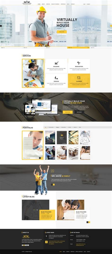 Constructioner Modern Construction Psd Template Psd Templates Themeforest The Ux Blog Free Podcast Website Template
