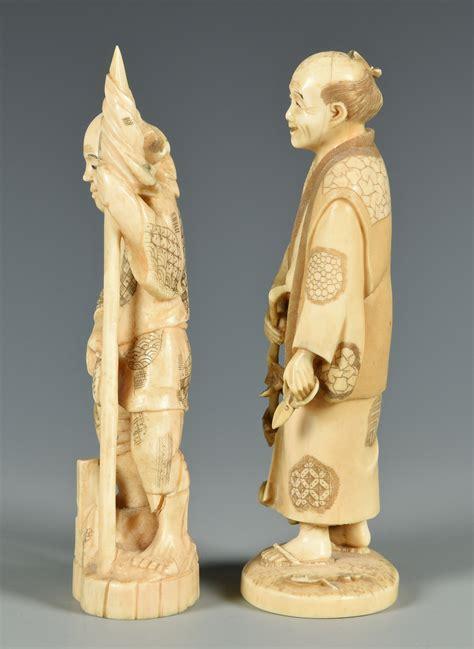 lots o figure lot 406 5 ivory okimono and netsuke figures