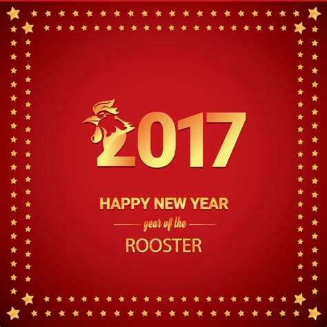 new year 2018 for rooster rooster new year border merry and happy new