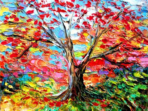 colorful tree colorful tree paintings www imgkid the image