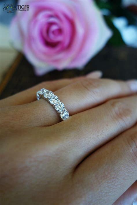 4 carat eternity band wedding band engagement ring