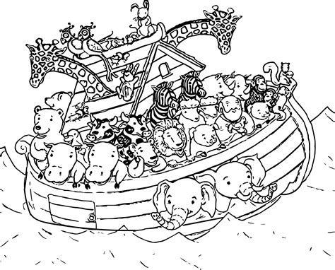 coloring page of noah s ark with animals noah ship coloring page 004 wecoloringpage noah s ark