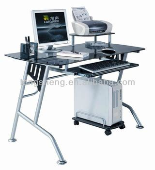 black tempered glass desk black painting glass tempered glass computer desk buy