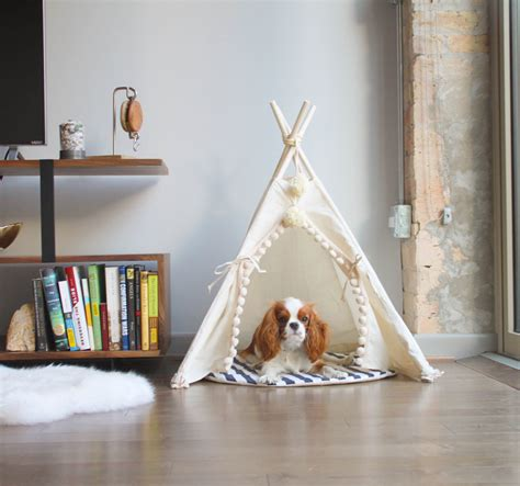 dog teepee bed pet tipi with poles and pad 4 pole pet tipi teepee tepee