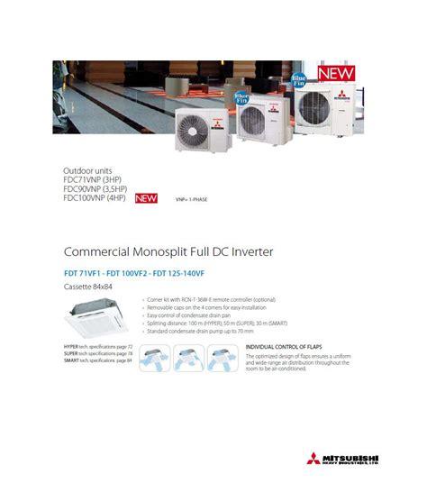 mitsubishi heavy industries heat pumps mitsubishi heavy industries air conditioning fdt71vf1