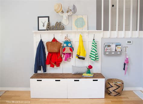 entryway backpack storage diy mudroom using ikea stuva benches ikea hackers