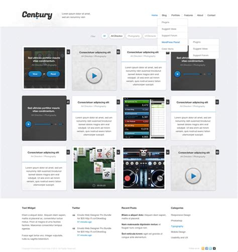 Century Grid Web Design Free Psd Template Psdexplorer Grid Website Templates Free