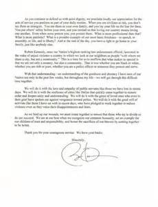 Enforcement Thank You Letter Obama Pens Letter Of Support To Enforcement Across Country Ny Daily News