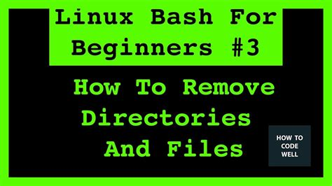 linux tutorial for beginners video linux bash shell for beginners tutorial 3 how to remove