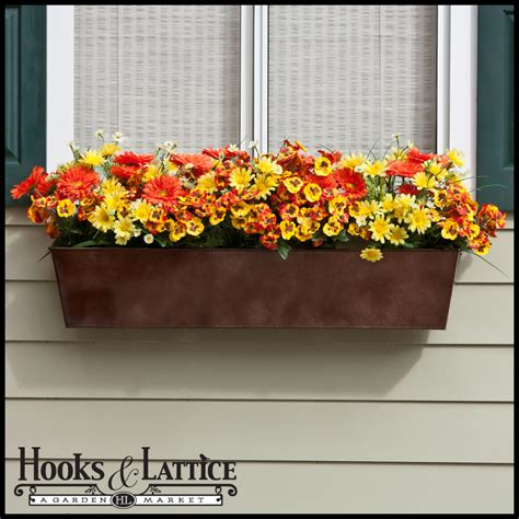 window boxes metal plastic window box liners outdoor planter box