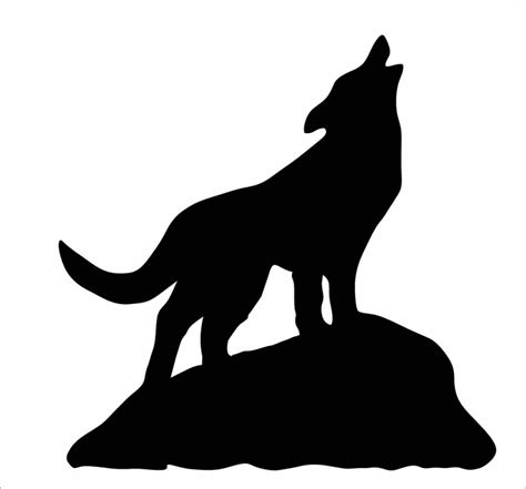 Coyote Silhouette Clip Free howling coyote silhouette clipart best