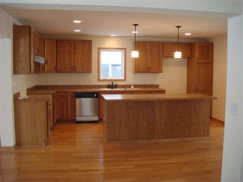 Mesmerizing Oak Wooden Unvarnished Kitchen Cabinet And