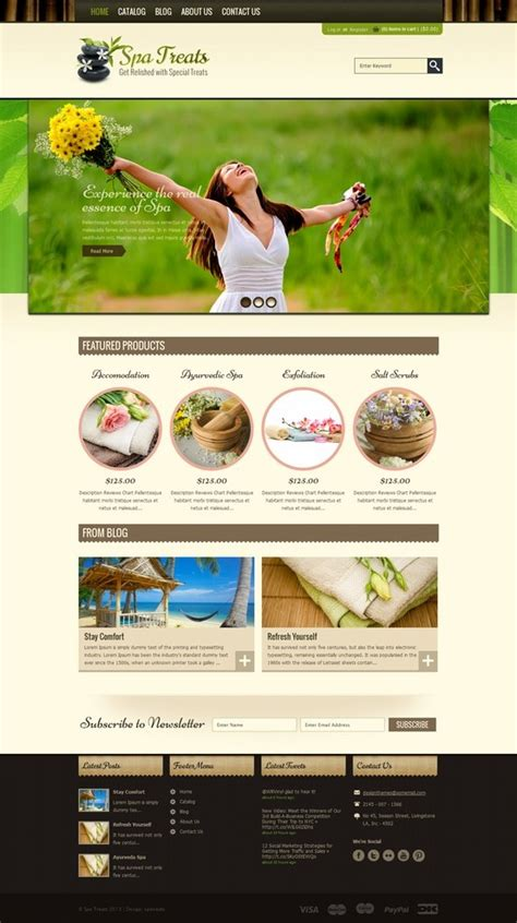 layout web beautiful 17 best images about spa website layouts on pinterest