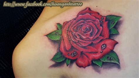 rose tattoo 3d h 236 nh xăm hoa hồng 3d ho 224 ng anh tattoo cần