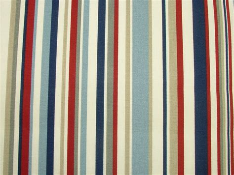 curtain upholstery fabrics nautical red blue ticking stripe cotton curtain upholstery