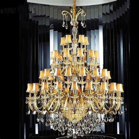 Aliexpress Com Buy Large Crystal Chandelier With Fabric Glass Arm Chandelier