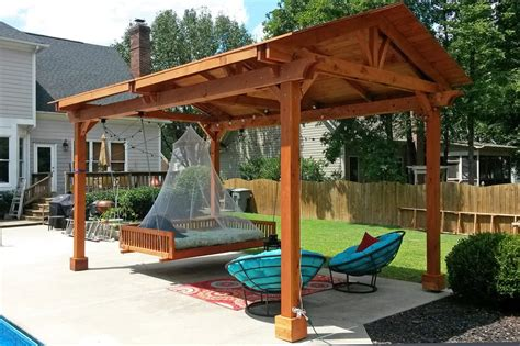 hammock chair pergola patio contemporary with gate