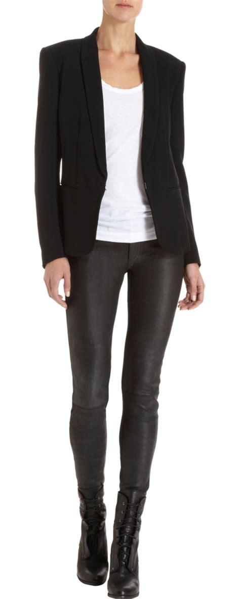 Trend Alert The Tuxedo Blazer by Rag Bone Silver Tuxedo Jacket My Style