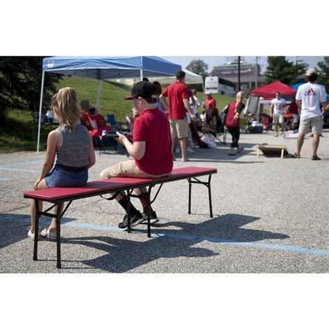 portable folding bench cosco red portable 2 pack folding tailgate bench