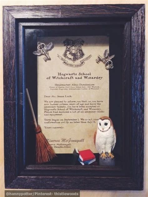 Hogwarts Acceptance Letter Gift Box Diy Harry Potter Gift Shadow Box Hogwarts Letter Materials Parchment Paper Miniature