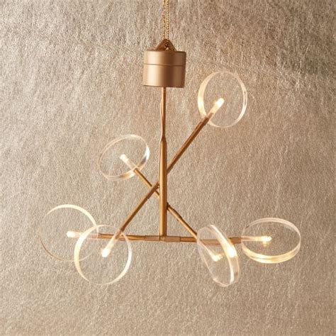 chandelier ornament led light up ornament chandelier west elm