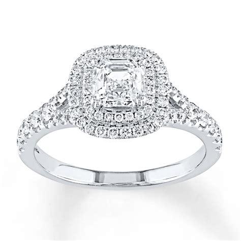 jared engagement ring 1 1 8 carat tw 14k white gold