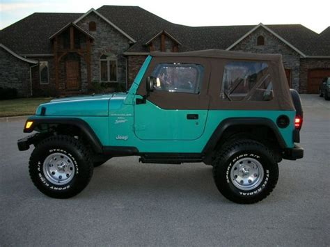 teal jeep wrangler beautiful 1994 teal wrangler i just love teal with black
