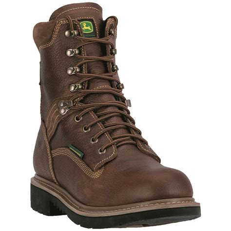 deere work boots for deere waterproof 8 quot lace up steel toe work boots